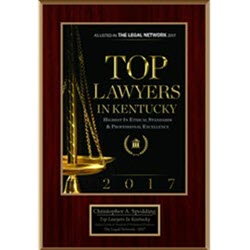 Defense Attorney Christopher A. Spedding, Lexington Kentucky, has been names a Top Lawyer in Kentucky